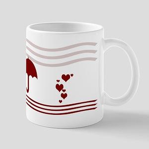 Romantic Hearts Rain Mug