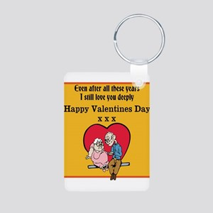 Valentines print (older couple) Keychains