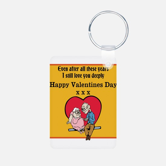 Valentines print (older couple) Keychains