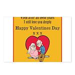 Valentines print (older couple) Postcards (Package
