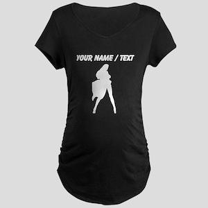 Custom Woman In Cape Silhouette Maternity T-Shirt