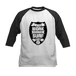 Less work more Surf Baseball Jersey