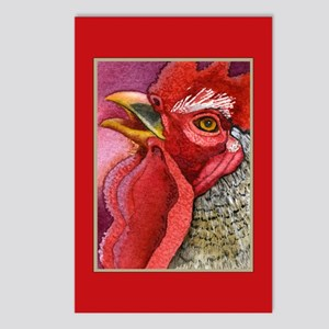 COLORFUL CHICKENS Postcards (Package of 8)