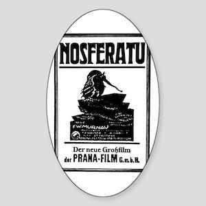 Nosferatu Film Poster Oval Sticker