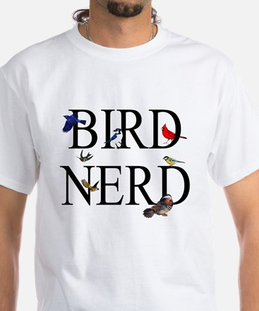 Bird Nerd White T-Shirt