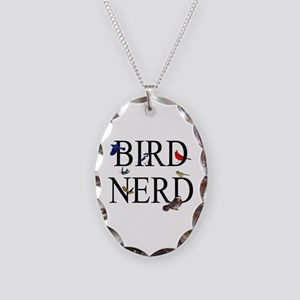 Bird Nerd Necklace Oval Charm