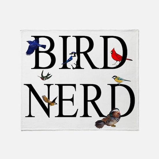 Bird Nerd Throw Blanket