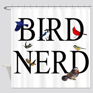 Bird Nerd Shower Curtain