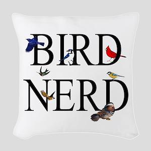 Bird Nerd Woven Throw Pillow
