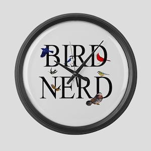 Bird Nerd Large Wall Clock