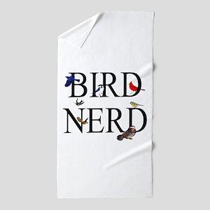 Bird Nerd Beach Towel