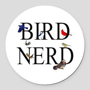 Bird Nerd Round Car Magnet