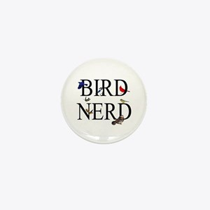 Bird Nerd Mini Button
