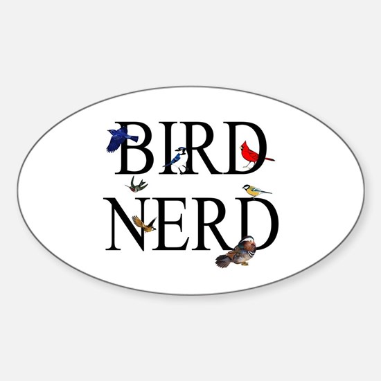 Bird Nerd Sticker (Oval)