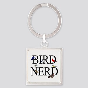 Bird Nerd Square Keychain
