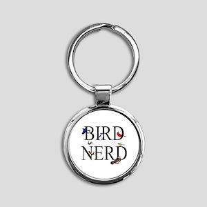 Bird Nerd Round Keychain