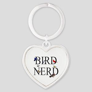 Bird Nerd Heart Keychain