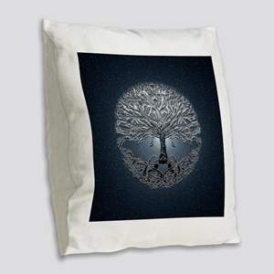 Tree of Life Nova Burlap Throw Pillow