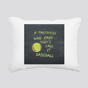 Chalkboard If Fastpitch Was Easy Rectangular Canva