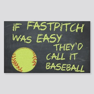 Chalkboard If Fastpitch Was Easy Sticker