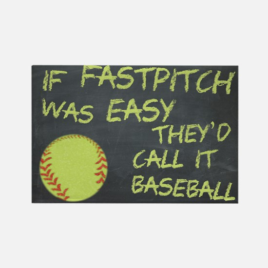 Chalkboard If Fastpitch Was Easy Magnets