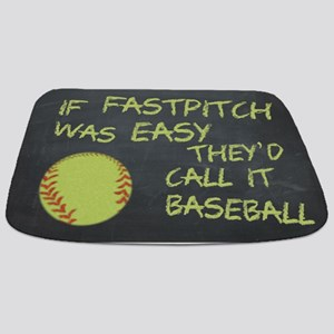 Chalkboard If Fastpitch Was Easy Bathmat