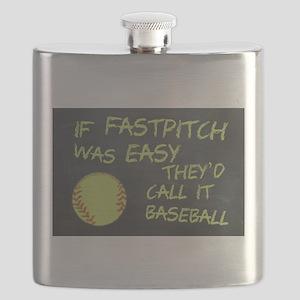 Chalkboard If Fastpitch Was Easy Flask