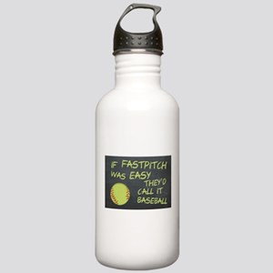 Chalkboard If Fastpitch Was Easy Water Bottle