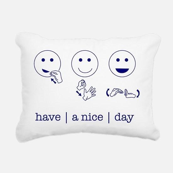 f_niceday Rectangular Canvas Pillow