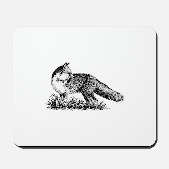 Red Fox (illustration) Mousepad