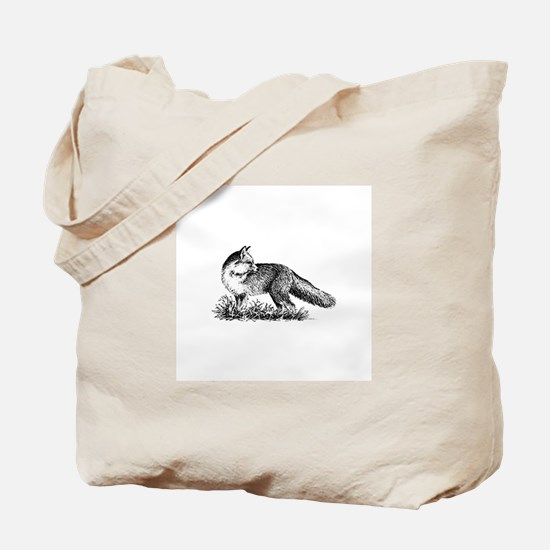 Red Fox (illustration) Tote Bag