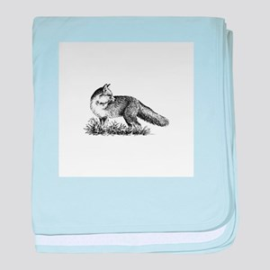 Red Fox (illustration) baby blanket