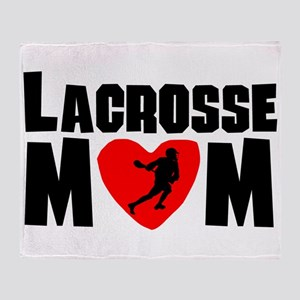 Lacrosse Mom Throw Blanket