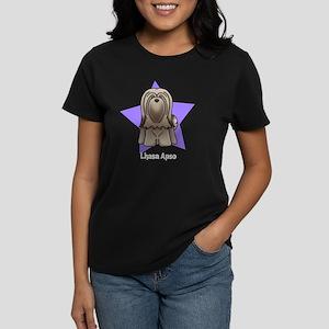 Anime Star Lhasa Apso Women's Dark T-Shirt