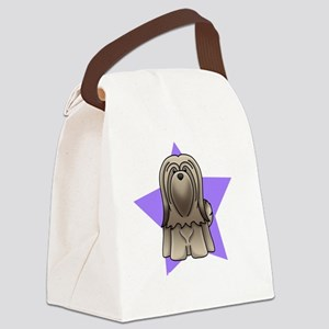 Anime Star Lhasa Apso Canvas Lunch Bag