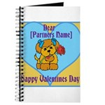 customisable valentines card Journal