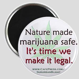 """""""Nature Made Marijuana Safe"""" Magnet"""