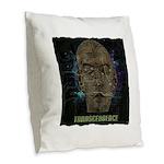 transcendence Burlap Throw Pillow