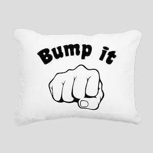 Fist Bump It Rectangular Canvas Pillow