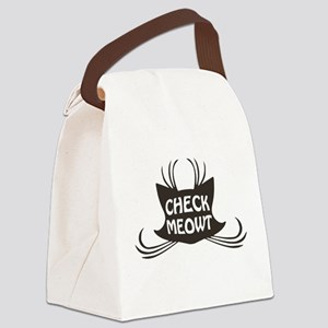 Check Meowt Kitty Cat Meow Canvas Lunch Bag