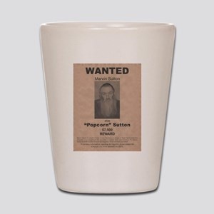 Popcorn Sutton Wanted Poster by McMinnie Shot Glas