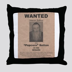 Popcorn Sutton Wanted Poster by McMinnie Throw Pil