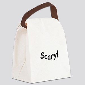 crazy scary Canvas Lunch Bag