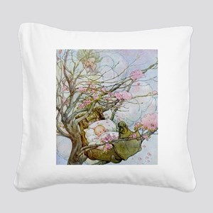 Rock-A-Bye Baby Nursery Rhyme Square Canvas Pillow