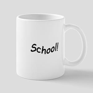 crazy school Mugs