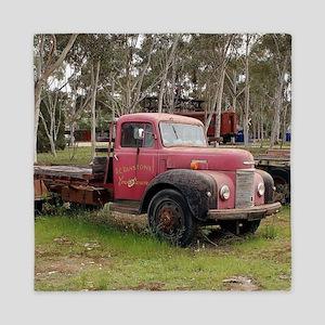 Old red truck Queen Duvet