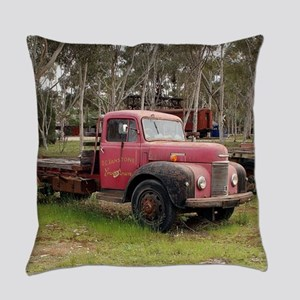 Old red truck Everyday Pillow