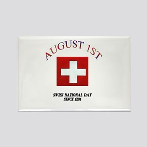 August First Rectangle Magnet