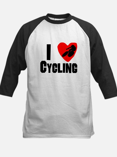 I Heart Cycling Baseball Jersey