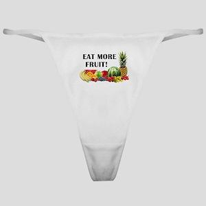 Eat More Fruit Classic Thong